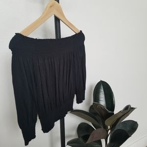 Moda International Off Shoulder Black Crop Top
